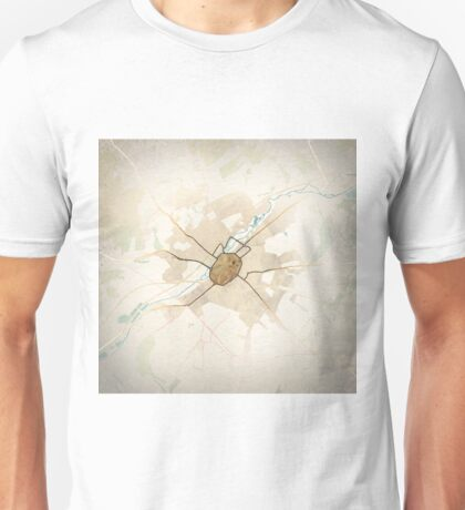 Map of the City of Canterbury Unisex T-Shirt