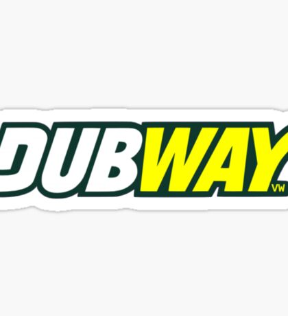 DUBWAY - sticker  Sticker