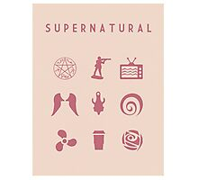 Supernatural Minimalist Poster Photographic Print