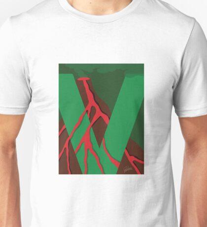 V is for Volcano Unisex T-Shirt