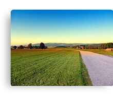 Autumn afternoon in the countryside | landscape photography Canvas Print