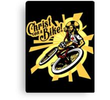 Christ on a Bike Canvas Print