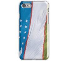 Waving Flag of Uzbekistan From 2014 Winter Olympics iPhone Case/Skin