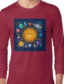 Funny Solar System Isometric Long Sleeve T-Shirt