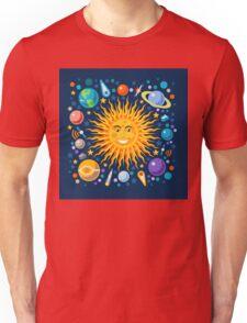 Funny Solar System Isometric Unisex T-Shirt