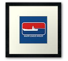 Major league Angler Framed Print
