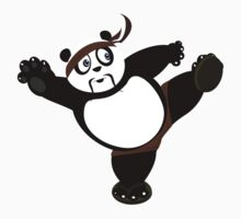 Martial Arts Panda 2 - Brown Kids Clothes