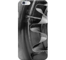 Closeup of a jet engine iPhone Case/Skin