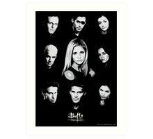 Buffy Cast Art Print