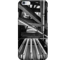 Modern metro interior with escalator iPhone Case/Skin