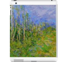 birch trees landscape iPad Case/Skin