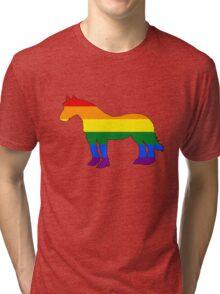 Rainbow Horse Tri-blend T-Shirt