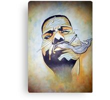 Biggie Laced Up Canvas Print
