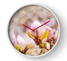 Bright Magnolia beauty flowering clock Clock