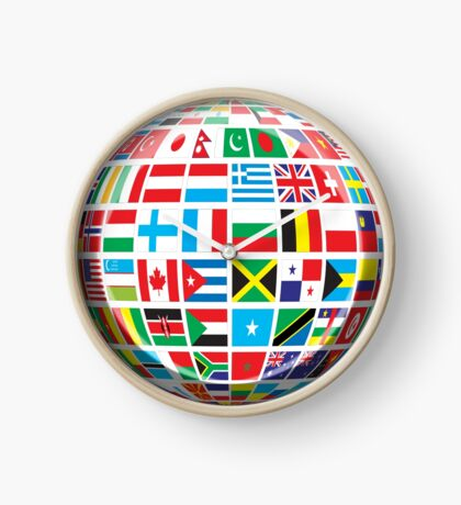 World, Flags of the Globe, Flags, Globe, Peace, Global Clock