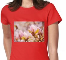 Bright Magnolia beauty flowering Womens Fitted T-Shirt