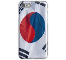 Waving Flag of South Korea From 2014 Winter Olympics iPhone Case/Skin