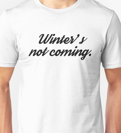 game of thrones funny winter tv series t shirts Unisex T-Shirt