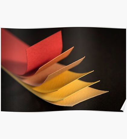 Colourful strips of cardboard  Poster