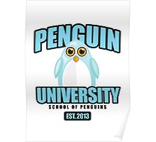 Penguin University - Blue Poster
