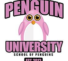 Penguin University - Pink by Adamzworld