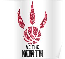 Toronto Raptors - We The North Name Graphic Poster