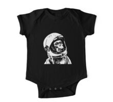 Monkey in Space. Funny Astronaut Chimpanzee  One Piece - Short Sleeve