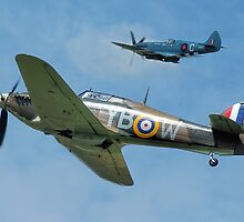 Hawker Hurricane and Supermarine Spitfire by © Steve H Clark Photography