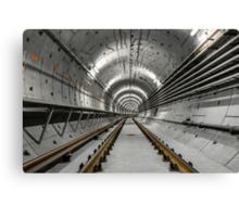 Deep metro tunnel under construction Canvas Print