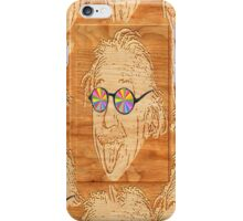wooden Albert Einstein iPhone Case/Skin