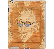 wooden Albert Einstein iPad Case/Skin