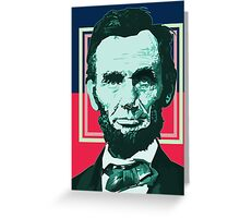 Abraham Lincoln - Retro Greeting Card