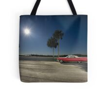 The Red Cadillac Tote Bag