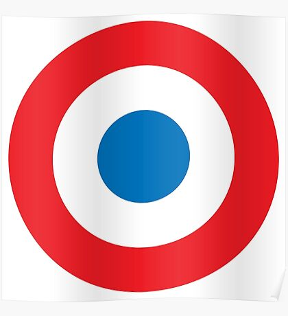 BULLS EYE, ROUNDEL, RED, WHITE, BLUE, Target, Poster