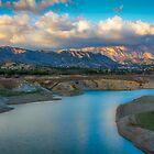 A view from Amadorio dam to Orxeta  by Ralph Goldsmith