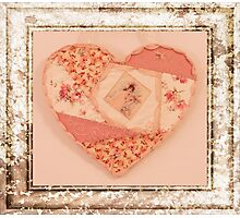 Heart Wall Hanging In Crazy Quilt Design  Photographic Print