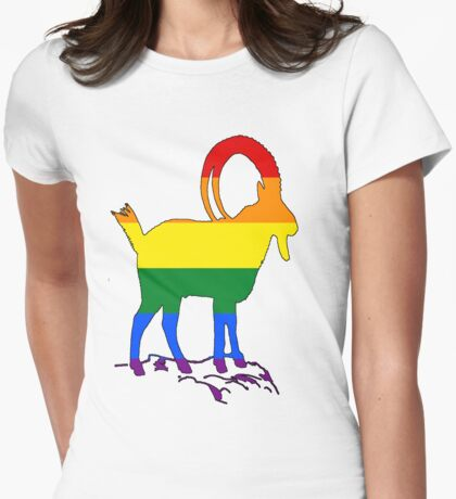 Rainbow Ibex Womens Fitted T-Shirt