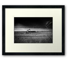 North Dakota Study in B & W VI Framed Print
