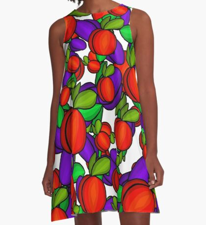 Peaches and plums  A-Line Dress