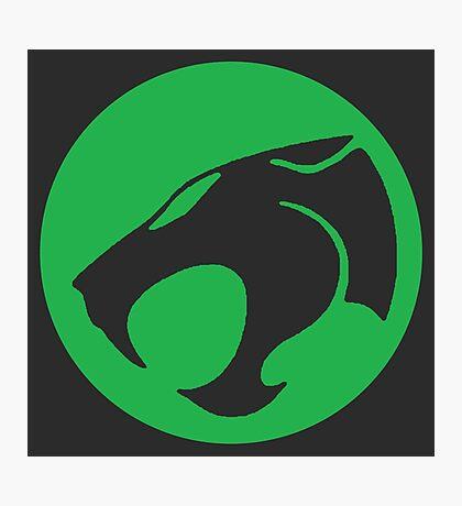 Logo Green Cat Photographic Print