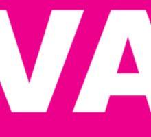 Virginia VA Euro Oval PINK Sticker