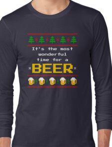 Ugly Christmas Sweater - Beer Long Sleeve T-Shirt