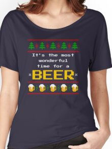 Ugly Christmas Sweater - Beer Women's Relaxed Fit T-Shirt
