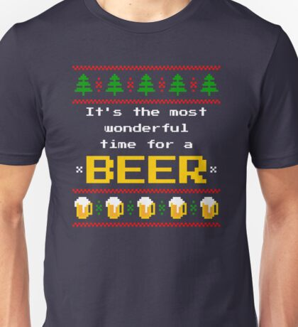 Ugly Christmas Sweater - Beer Unisex T-Shirt
