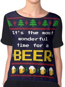 Ugly Christmas Sweater - Beer Chiffon Top