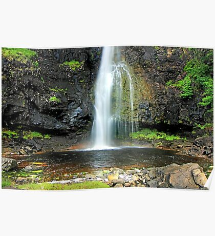Eos Fos Waterfall, Isle of Mull. Poster