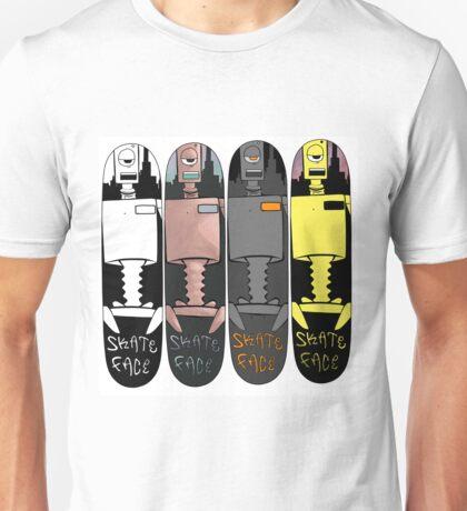 Skate Face - Robot Board Unisex T-Shirt