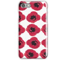 3 Red Poppies oil painting iPhone Case/Skin