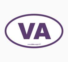 Virginia VA Euro Oval PURPLE Kids Clothes