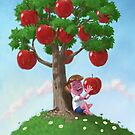 Boy with Apple Tree by martyee